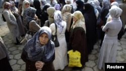 Демонстранти-мусульмани біля суду в Пазарджику 18 вересня 2012 року