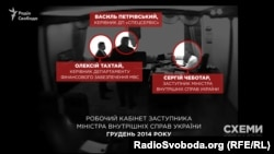 Скрін-шот із відео, знятого прихованою камерою СБУ в кабінеті екс-заступника Авакова Сергія Чеботаря