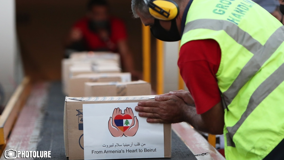 Armenia Sends First Planeload Of Humanitarian Aid To Lebanon