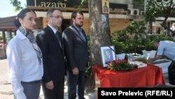 Slavica Jovanović, Goran Danilović i Mladen Milutinović, 27. maj 2016.