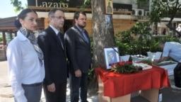 Sa obeležavanja godišnjice ubistva Duška Jovanovića 2016. godine