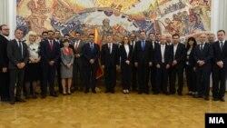Архивскја фотографија- претседателот Ѓорге Иванов ги прими министрите и премиерот Зоран Заев,01.06.2017