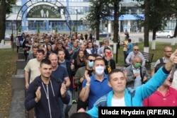 Шэсьце работнікаў БелАЗу ў Жодзіне. 26 жніўня