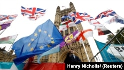 Акция противников Брекзита у стен британского парламента, 25 октября 2019 года