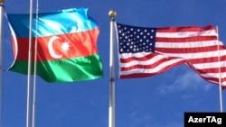 Arxiv fotosu: ABŞ və Azərbaycan bayraqları