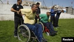 Палестинский параолимпиец Хамис Закут