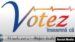 Pagina de Facebook a Comisiei Electorale Centrale de la Chișinău.