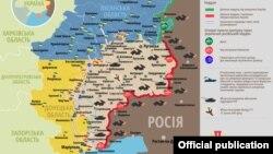 Ситуація в зоні бойових дій на Донбасі, 25 червня 2019 року. Інфографіка Міністерства оборони України