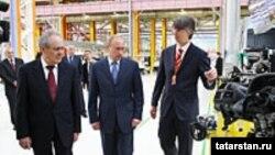М.Шәймиев, В Путин, В.Швецов