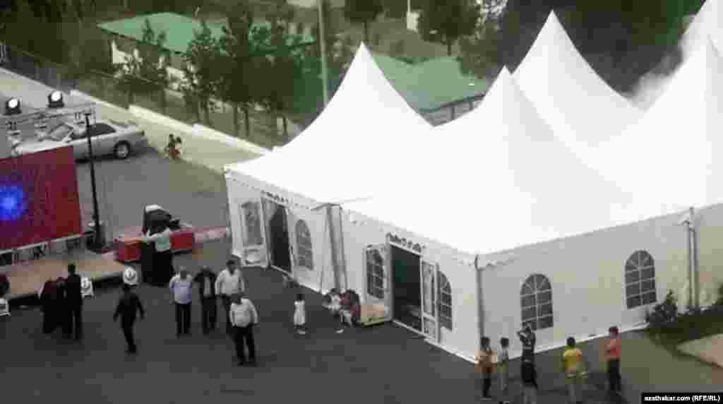 Свадебные шатры, Ашхабад, ноябрь, 2019