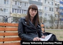 Анастасия Сергеева перед заседанием суда