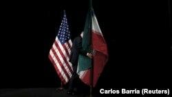 Flamuri amerikan dhe ai iranian.