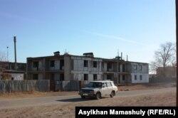 Село Кенгир, расположенное недалеко от Жезказгана. Карагандинская область, 29 октября 2013 года.