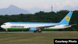 Uzbekistan airways учоғи.