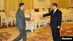 Xi Jinping, dhe Jack Lew në Pekin.