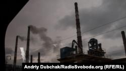 Луганская ТЭС в городе Счастье. Март 2016 года