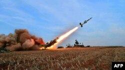 یکی از آزمایشهای موشکی کره شمالی