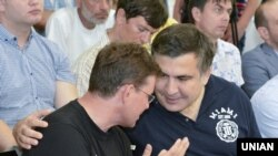 Михаил Саакашвили и Саша Боровик