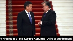 Kyrgyz President Sooronbai Jeenbekov and his Tajik counterpart, Emomali Rahmon, have usually met on the sidelines of summits.