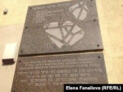 Мемориальная доска: план Вильнюсского гетто на его границе