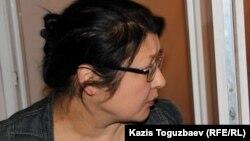 Гузяль Байдалинова, редактор и собственник оппозиционного сайта Nakanune.kz, после вынесения приговора. Алматы, 23 мая 2016 года.