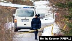 Policija na mestu ubistva Mahira Begića
