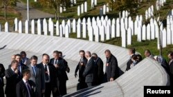 Srebrenisanyň golaýynda gecirilen matam çäresi, Potokari ýadygärlik merkezi, 11-nji noýabr, 2015