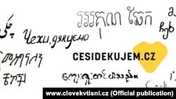 """""""Чехи, дякуємо"""" – ілюстрація з сайту організації Clovek v Tisni"""