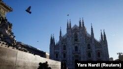 Pamje nga qyteti Milano në Itali.
