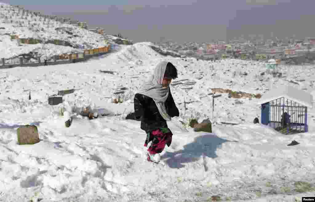 Аўганістан. Сьнежны Кабул.