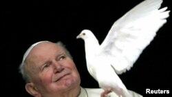 Причисленный к лику святых Иоанн Павел II.