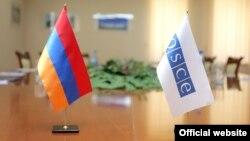 Флаги Армении и ОБСЕ