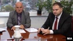 Архивска фотографија - Владимир Панчевски (десно) со поранешниот републички јавен обвинител Марко Зврлевски