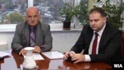 Архивска фотографија - Поранешниот претседател Кривичниот судСкопје, Владимир Панчевски со поранешниот државен обвинител Марко Зврлевски
