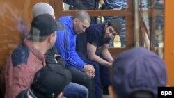 ბრალდებულები მოსკოვის საოლქო სამხედრო სასამართლოში