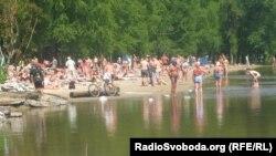Один із київських пляжів