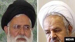 علی سعیدی (راست)، نماینده ولی فقیه در سپاه و احمد علم الهدی، امام جمعه مشهد