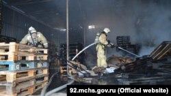 Місце пожежі в Севастополі