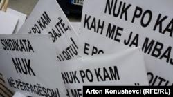 Protesta simbolike në Prishtinë
