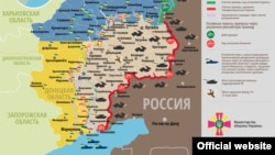 Карта боевых действий по состоянию на 27 августа