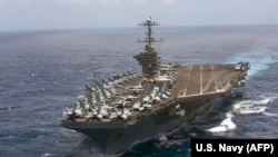 The aircraft carrier U.S.S. Harry S. Truman transits the Atlantic Ocean. (file photo)