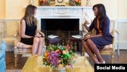 Michelle Obama və Melania Trump