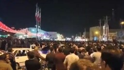 Protests continue in Iran on January 6, 2018. Screen grab from reported demo. in Mahshahr