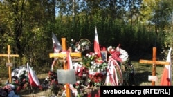Graves of those who died in the crash of Polish President's plane in Smolensk, Russia