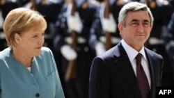 Անգելա Մերկել եւ Սերժ Սարգսյան, Բեռլին, 22-ը հունիսի, 2010թ.