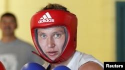 Қазақстандық боксшы Марина Вольнова.