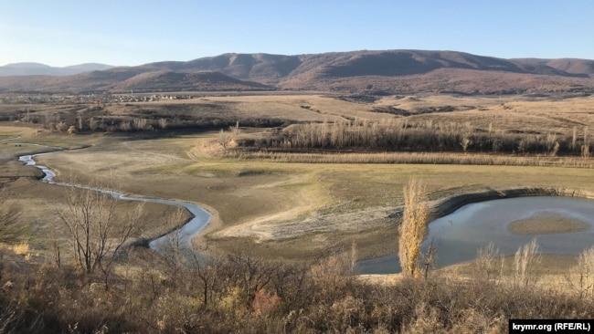 Белогорское водохранилище, ноябрь 2019 года