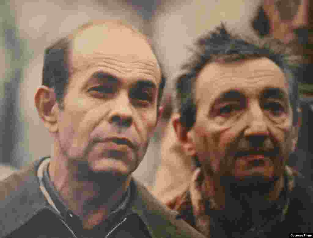 Похороны Гаи Куронь. На фотографии Яцек Куронь, Марек Эдельман, 1982 г.