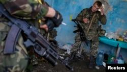 نیروهای گارد ملی اوکراین در شرق آن کشور