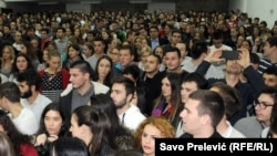 Učenici Ekonomske škole, Podgorica, arhivska fotografija